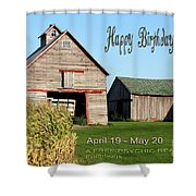 Happy Birthday Taurus Shower Curtain