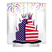 Happy Birthday Usa Shower Curtain