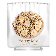 Happy Breakfast Fine Art Poster Shower Curtain
