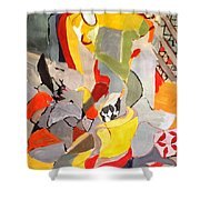 Happy Chair Shower Curtain