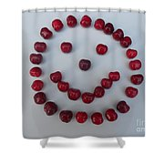 Happy Cherry Face Shower Curtain