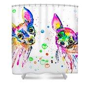 Happy Chihuahuas Shower Curtain