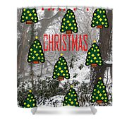 Happy Christmas 22 Shower Curtain