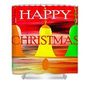 Happy Christmas 27 Shower Curtain by Patrick J Murphy