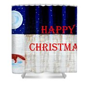 Happy Christmas 28 Shower Curtain