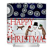 Happy Christmas 29 Shower Curtain