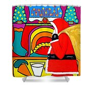 Happy Christmas 30 Shower Curtain