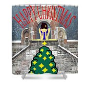 Happy Christmas 31 Shower Curtain