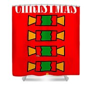 Happy Christmas 14 Shower Curtain