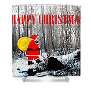 Happy Christmas 60 Shower Curtain