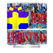 Happy Christmas 88 Shower Curtain