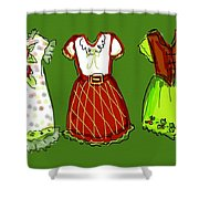 Happy Christmas Dresses Shower Curtain