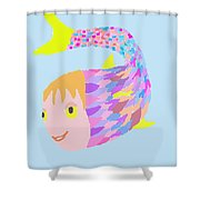 Happy Clown Fish  Shower Curtain