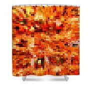 Happy Colors Abstract Shower Curtain
