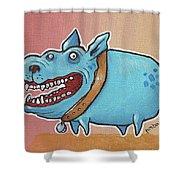 Happy Dawg Shower Curtain