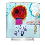 Happy Days Shower Curtain