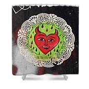 Happy Devil Shower Curtain