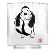 Happy Dog Shower Curtain