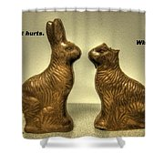 Happy Easter Card Shower Curtain