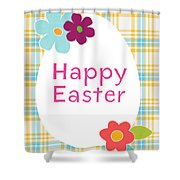 Happy Easter Egg- Art By Linda Woods Shower Curtain