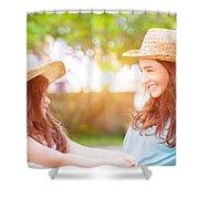 Happy Family Life Shower Curtain