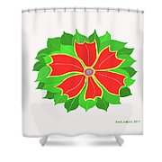 Happy Flower Shower Curtain