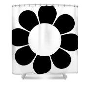 Happy Flower Trio  Shower Curtain