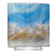 Happy Fog Shower Curtain