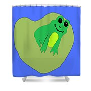 Happy Frog Shower Curtain