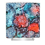 Happy Galaxy Shower Curtain