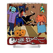 Happy Halloween Party Shower Curtain