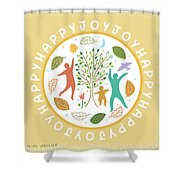 Happy Happy Joy Joy Shower Curtain