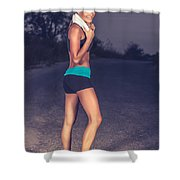 Happy Healthy Sportive Woman Shower Curtain