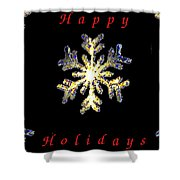 Happy Holiday Snowflakes Shower Curtain