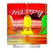 Happy Holidays 11 Shower Curtain