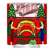 Happy Holidays 17 Shower Curtain