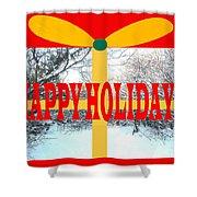 Happy Holidays 21 Shower Curtain