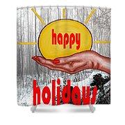 Happy Holidays 26 Shower Curtain