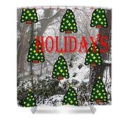 Happy Holidays 29 Shower Curtain