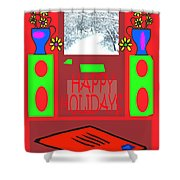 Happy Holidays 98 Shower Curtain