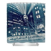 Happy Holidays From New York City Shower Curtain