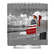 Happy Holidays Mail Shower Curtain