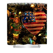 Happy Holidays To All My Faa Friends Shower Curtain