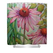 Happy Honey Bee Shower Curtain