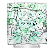 Happy Jamaica Map Shower Curtain