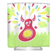 Happy Jumping Creature Shower Curtain