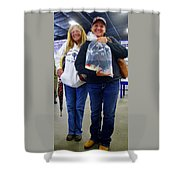 Happy Koi Buyers Shower Curtain