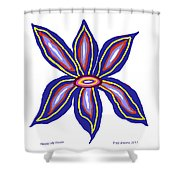 Happy Lily Bloom Shower Curtain