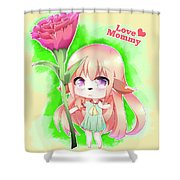 Happy Mother's Day Furry Girl Shower Curtain