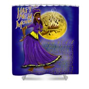 Happy New Moon Sirach 43 Shower Curtain